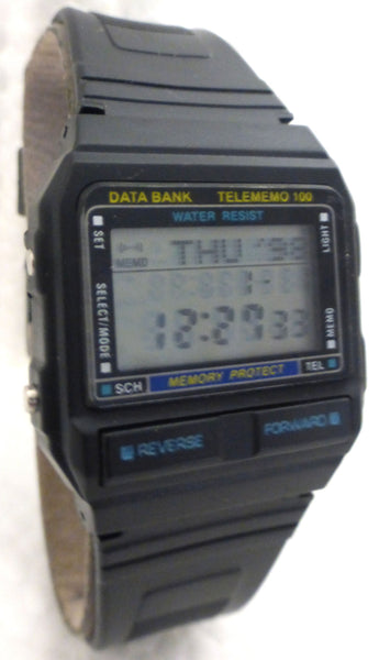 100 Memory Tel-Memo Data Bank Watch Brand New Retro Japan  parts - La Century