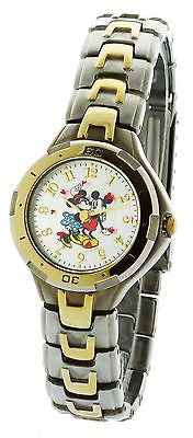 Disney Micky & Minnie Love Watch #MU2049  In Two Tone Routating Disck - La Century