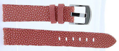 18mm Pink Genuine Stingray Leather Band - La Century
