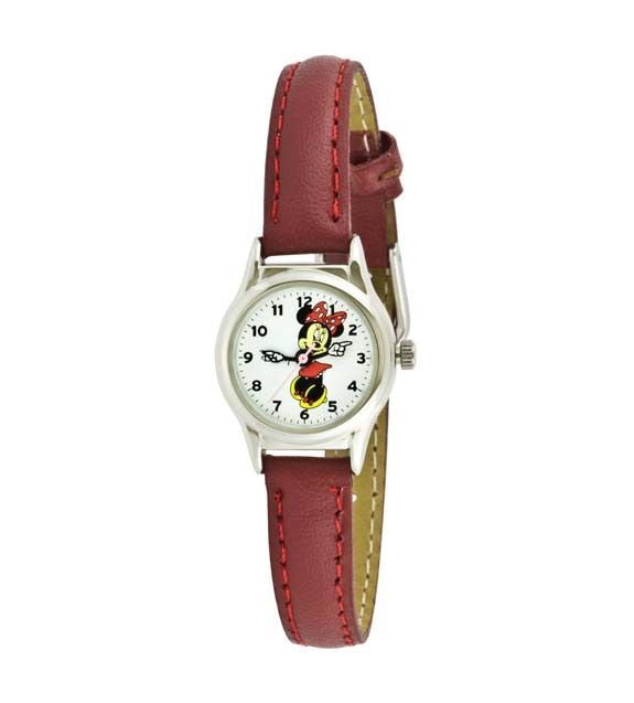 Disney Women's MCK371 Minnie Mouse Brown Strap Watch - La Century