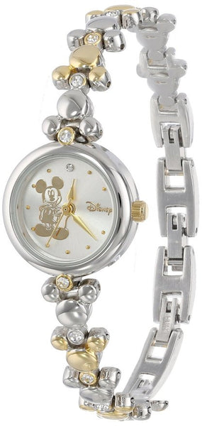 Disney Mickey Mouse Two-Tone Link Bracelet Watch - La Century