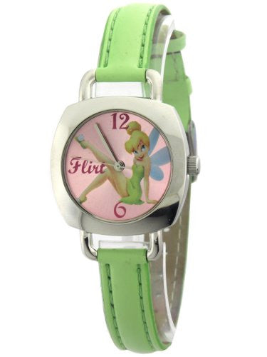 Collectible Disney'sTinker Bell Watch/Quartz Analog/Mint Green Leather Band - La Century