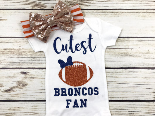 cutest broncos fan baby girl Denver broncos baby outfit