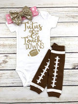 tutus and touchdowns baby girl football outfit