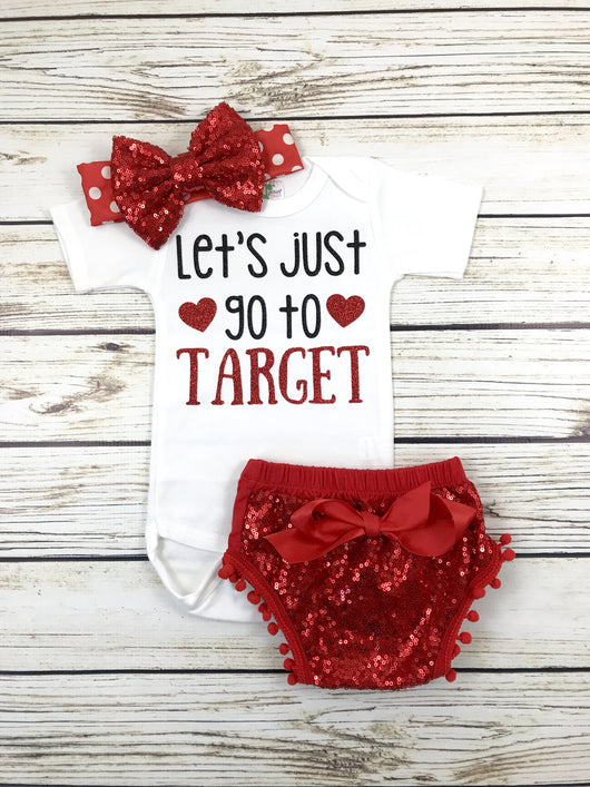 let's just go to target baby girl toddler target shirt onesie outfit funny target shirt