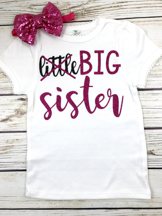 little big sister pregnancy announcement shirt for new big sister