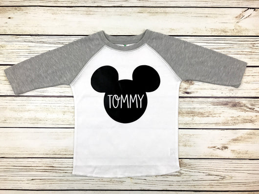 Mickey Mouse name shirt toddler boy first Disney trip outfit shirt