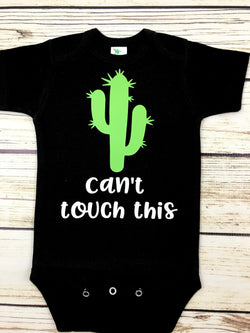can't touch this baby boy cactus onesie newborn outfit
