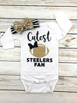 baby girl steelers outfit football first steelers game newborn