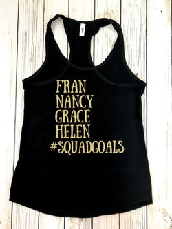 crossfit girls WODS tank top shirt crossfit girls Fran grace Nancy Helen squad goals