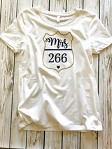 Mrs. Badge Number Custom Police Wife Tee