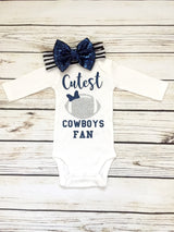 Cutest Cowboys Fan Baby Girl Football Outfit