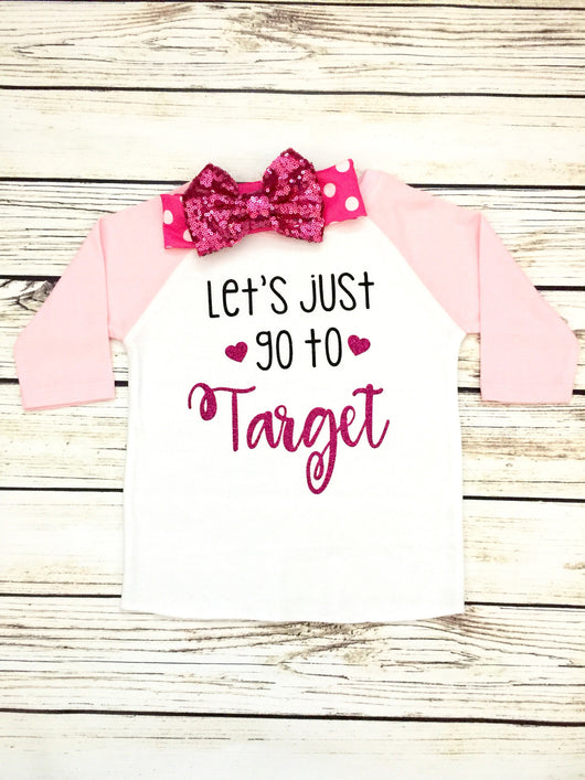 Toddler girls baseball tee let's just go to target