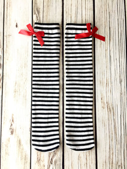 {Bella Striped Knee Highs}