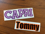 Layered Vinyl Name Decals