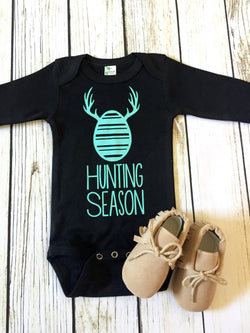 baby boy easter egg hunting season elk onesie outfit