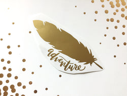 Feather Adventure Vinyl Decal