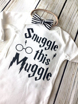Snuggle this muggle Harry Potter baby onesie