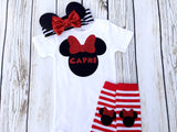 Character Ears Custom Name Baby Girl Outfit