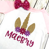 {Unicorn Name Raglan}