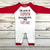 baby boy valentines outfit just a stud muffin looking for my cupcake