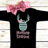 hunting season baby girl easter first easter outfit onesie