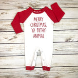 {Merry Christmas, Ya Filthy Animal} Romper