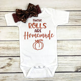 these rolls are homemade funny baby onesie for first thanksgiving baby girl outfit