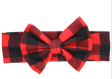 Buffalo Plaid Bow Headband