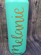 Custom Name Glitter Hydro Flask Decal, vinyl decal for hyrdo flask
