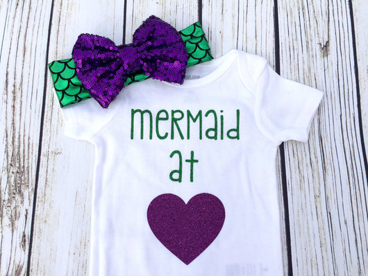 Copy of Mermaid At Heart Baby Girl Bodysuit Outfit