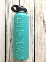 Wild&Free vinyl decal for hydroflask,yeti,waterbottle