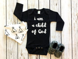 I Am A Child Of God Baby Boy Bodysuit