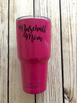 Baseball Mom vinyl decal for hydroflask,yeti,waterbottle