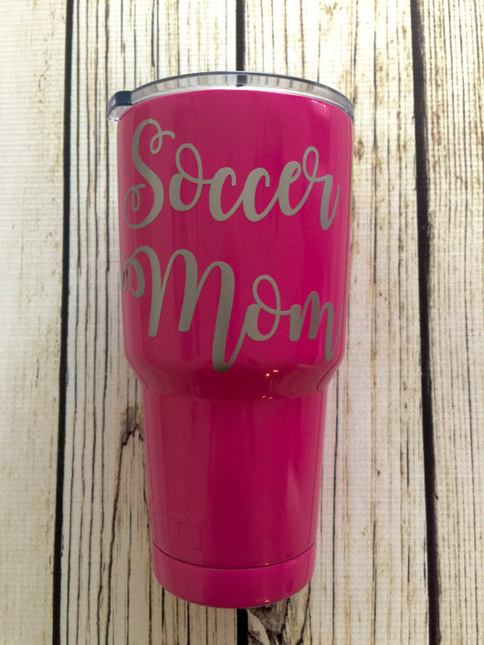 Soccer Mom vinyl decal for hydroflask,yeti,waterbottle