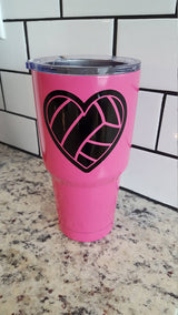 Volleyball Heart decal for Hydro Flask Water Bottle Yeti
