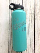 It's a RUNderful life vinyl decal for hydroflask,yeti,waterbottle