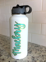 Layered Vinyl Custom Name Decal For Hydro Flask, Yeti, Water bottle Decal