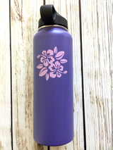 Hibiscus flower vinyl decal for hydroflask,yeti,waterbottle