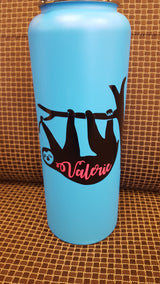 Sloth vinyl decal for hydroflask,yeti,waterbottle