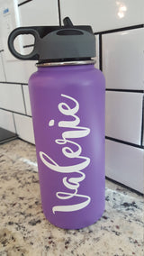 Custom name vinyl decal for hydroflask,yeti,waterbottle