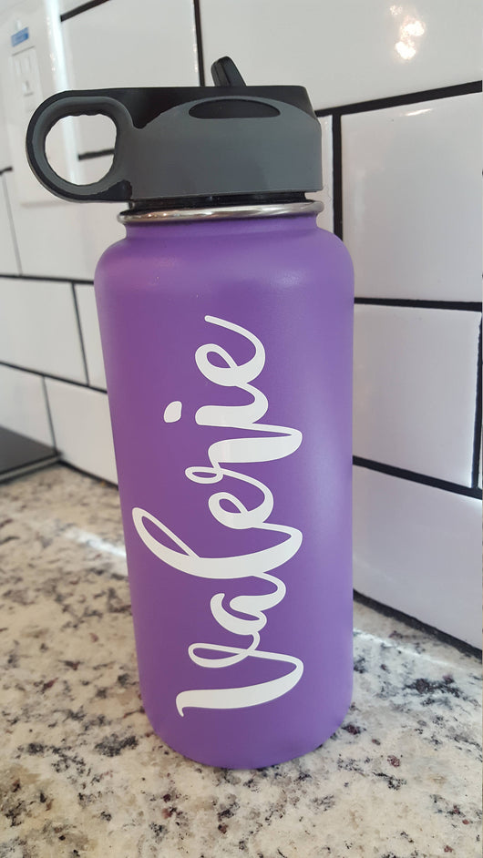 hydro flask yeti water bottle decal vinyl sticker name