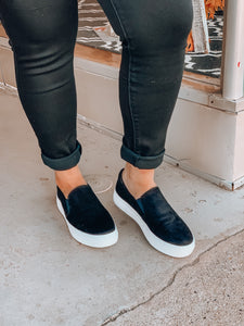 Suede Black Sneakers