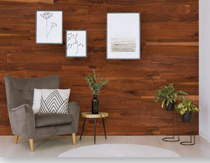 All-Natural Walnut Originals Hardwood Plank - Wallplanks