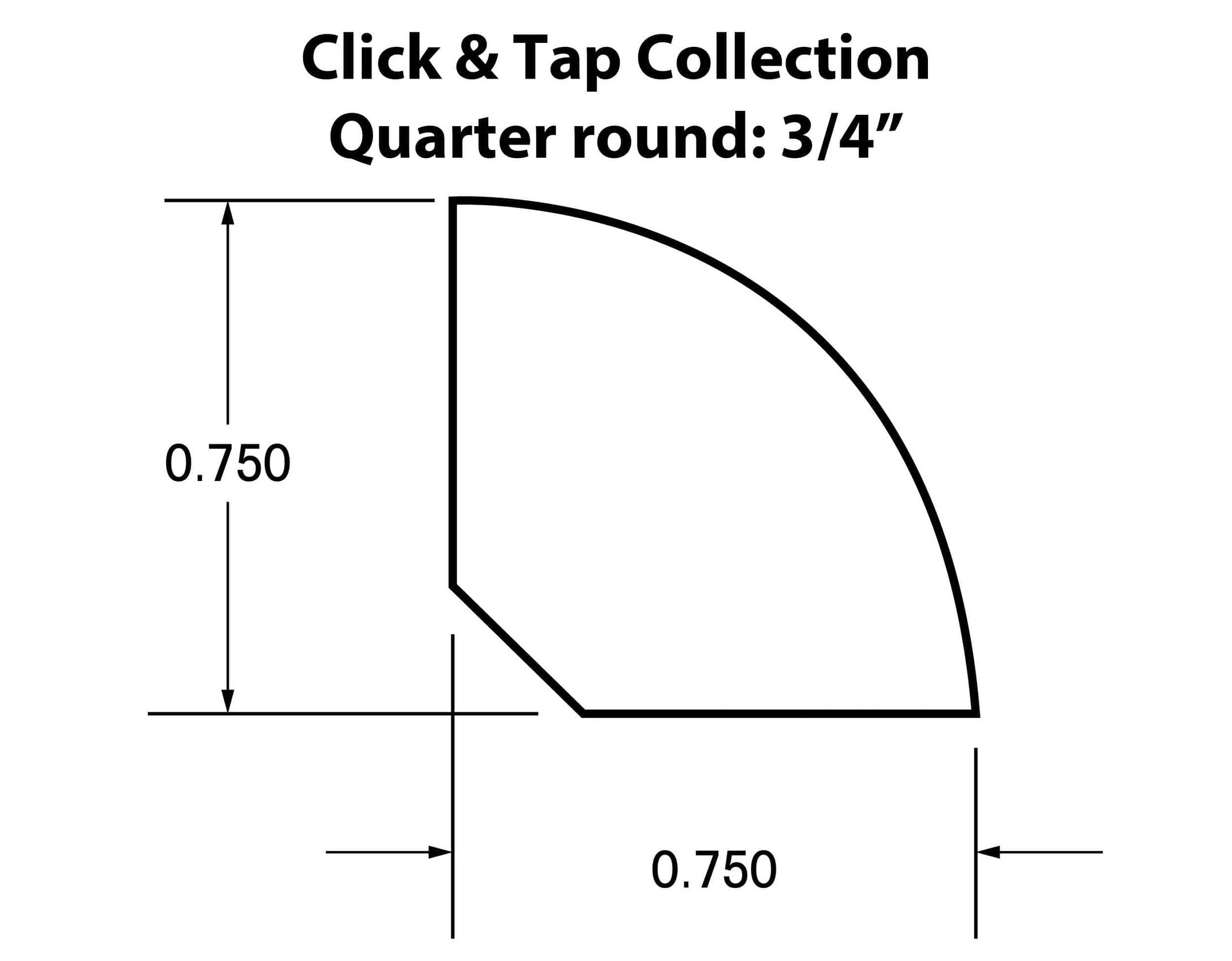 Quarter Round Moldings for the Click & Tap Collection