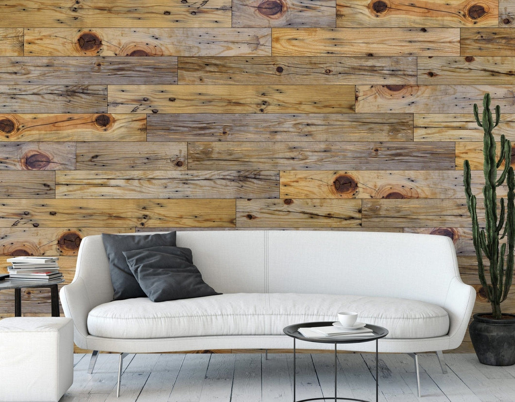 Unfinished Pine Authentic Reclaimed Barnwood Plank - Wallplanks