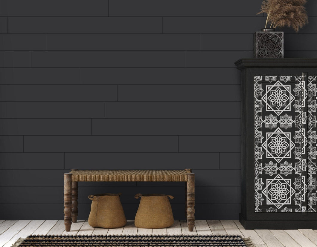 Wallplanks Classic Peel & Stick Shiplap - Black - Wallplanks