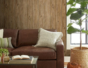 Wallplanks Wallpaper - Reclaimed Chestnut Wood Plank Peel and Stick Wallpaper 28.19 SF/ Roll - Wallplanks