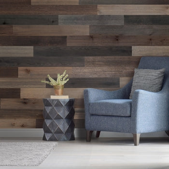 Wood Wall Planks - Self Adhering, Peel and Stick Wall Planks