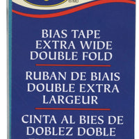 "Wrights Extra Wide Double Fold Bias Tape Mediterranean Blue 1/2"" 3YD #4149"